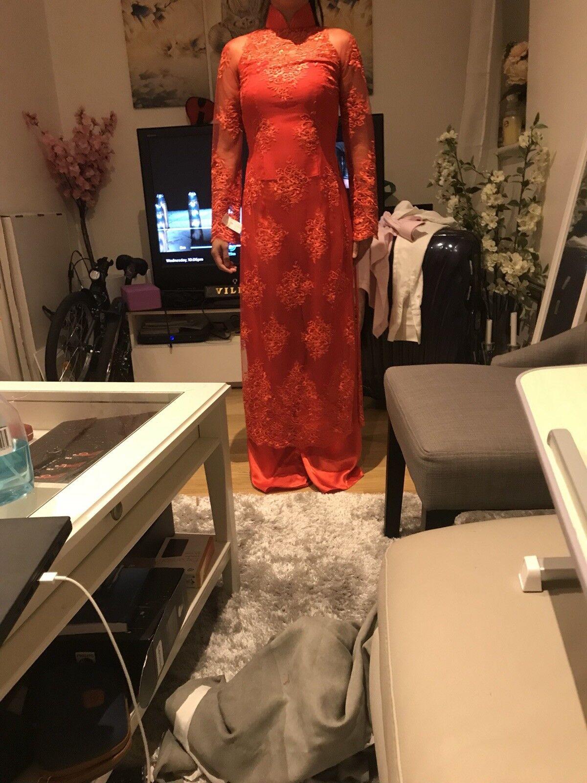Vietnamien mariage AO DAI Robe Taille 6