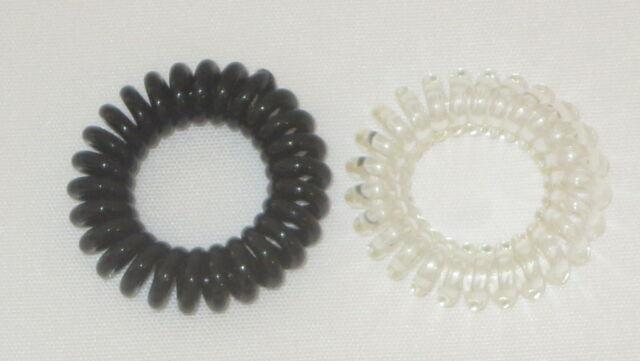 Swirly Do Hair Ties Black Clear Tangle Free Ponytail New SwirlyDo Lindo  Small 2e0e9f2313b