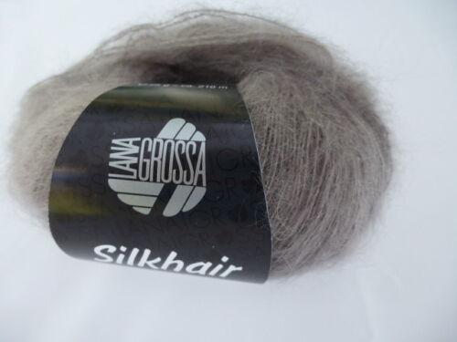 Lana Grossa Silkhair Mohair 25 g Couleur 035 couleur taupe