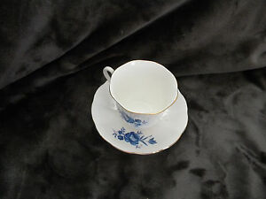 ELIZABETHAN PATTERN CUP AND SAUCER BY TAYLOR AND KENT (ENGLAND) BLUE FLOWERS