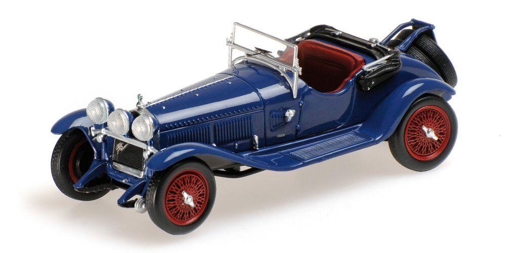 ALFA ROMEO 6c 1750 G.S. 1930 blu 1:43 MODEL 400120431 Minichamps