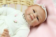 "16"" 40cm reborn baby silicone vinyl doll with magnet pacifier free shipping"