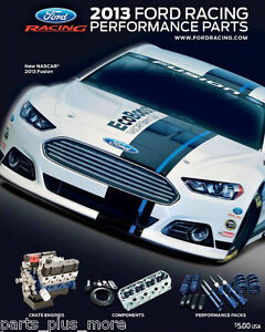 Ford Racing Parts >> Details About 2013 Ford Racing Performance Parts Catalog Collectible M 0750 2013