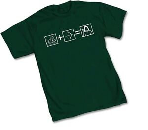 DC-GREEN-ARROW-EQUATION-Green-Adult-Licensed-T-Shirt-S-2XL