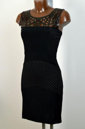 Gr steinen fb 38 34 Cocktailkleid Kleid Strass 36 schwarz mit Silbernen 40 aw0OnIx