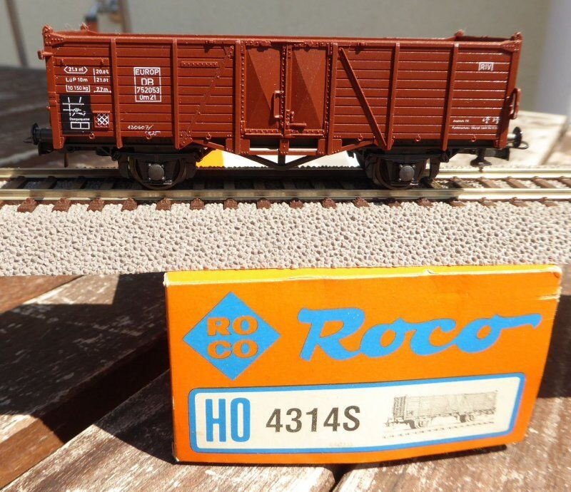 Roco 46058 Goods Wagon Open Om 21 DB EP. 3 without NEM, Conf. Orig.