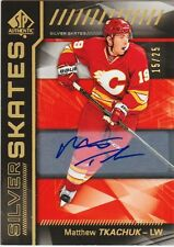MATTHEW TKACHUK RC AUTO 16-17 SP AUTHENTIC GOLD AUTOGRAPH 15/25 SILVER SKATES