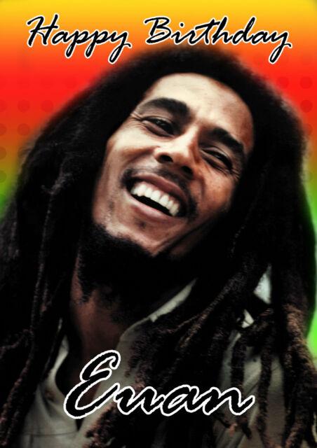 Personalised Bob Marley Birthday Card Ebay