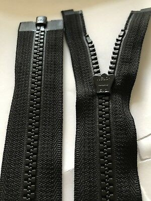 Zipper 2 way runners no 8 Vislon chunky Black 91 cm long