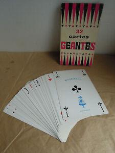 Cartes-a-jouer-geantes-32-cartes-BP-Grimaud-Vintage