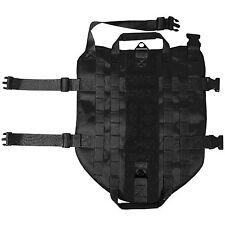 LIVABIT Black Police K9 Dog Tactical 1000D Molle Vest Canine Harness X-Small