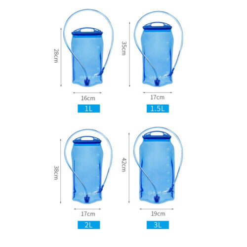 Outdoor Hiking Water bottle 1//1.5//2//3 L Water Bladder Backpack Hydration bag