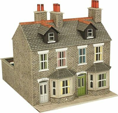 Importato Dall'Estero Metcalfe Po262 Stone Terraced Houses (00 Gauge) Railway Model Kit