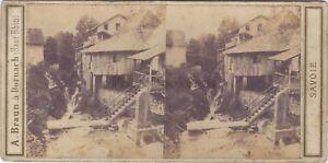 Cascade Da Crecy Savoia Stereo Braun Vintage Albumina Ca 1860