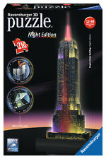 EMPIRE STATE BUILDING AT NIGHT 3D JIGSAW PUZZLE 216 PIECE RAVENSBURGER AGE 12+