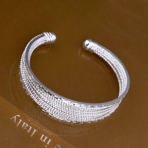 ASAMO-Eleganter-Damen-Armreif-925-Sterling-Silber-plattiert-Schmuck-Armband