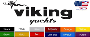 """Decals Stickers 24/"""" x 5/"""" Choose Color Buy Now ! Viking Boat Yacht Pair 2"""