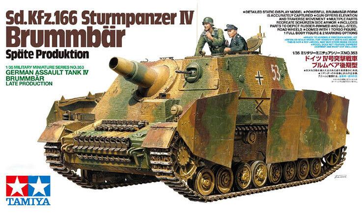 Tamiya 1 35 Sd.Kfz.166 Sturmpanzer IV Brummbar Late Production PLASTIC KIT 35353