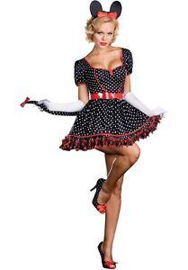 hübsch und bunt große Auswahl an Farben und Designs bestbewertet billig Details zu Minnie Maus Mickey Disney Damen Sexy Erwachsene Halloween Kostüm  L