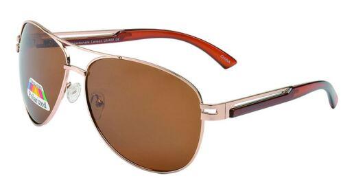 Mens Womens Designer Polarised Gold Black Pilot Flying Sunglasses UV400
