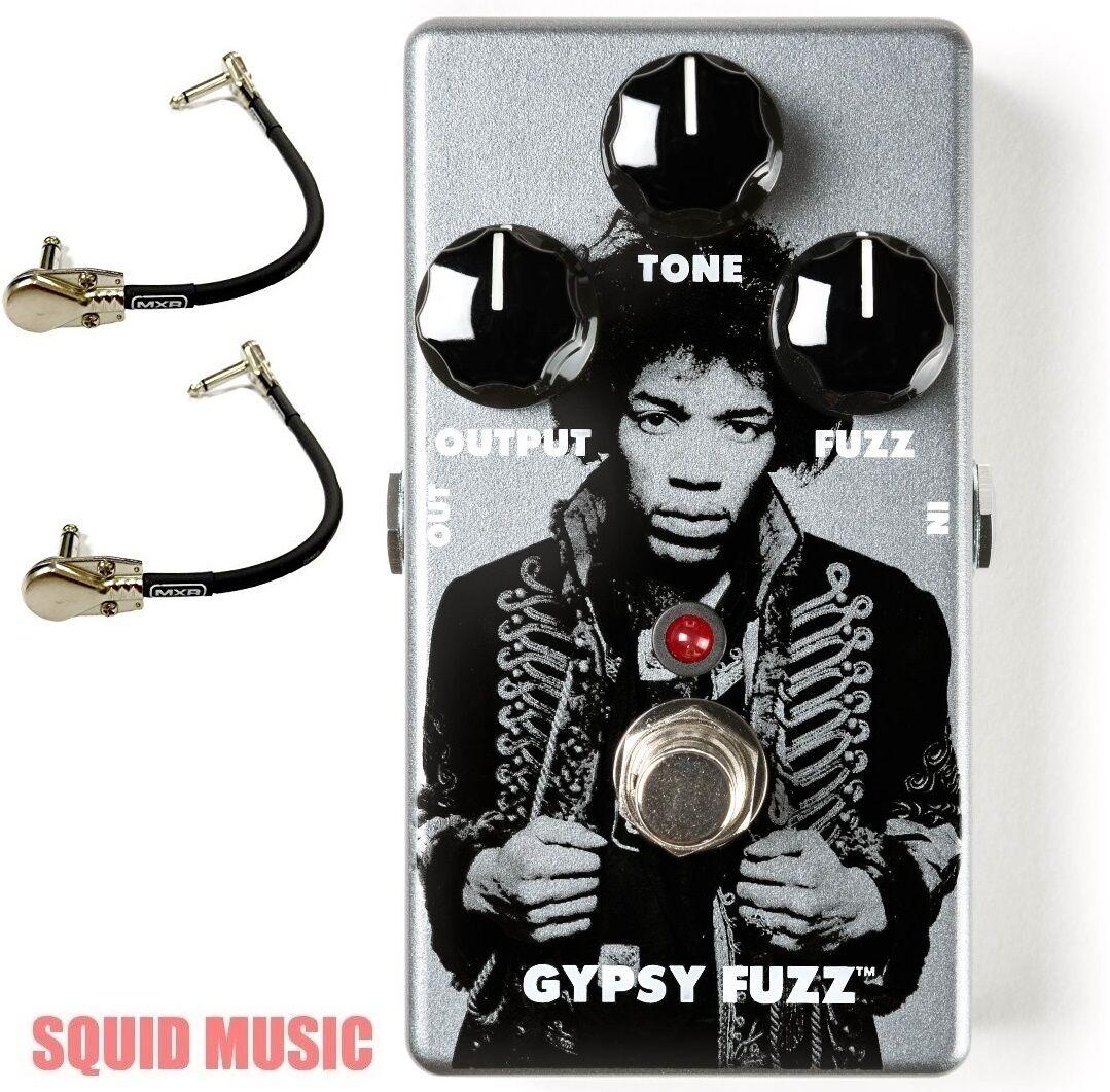 Dunlop JHM8 Jimi Hendrix Gypsy Fuzz Guitar Effects Pedal ( 2 MXR PATCH CABLES )