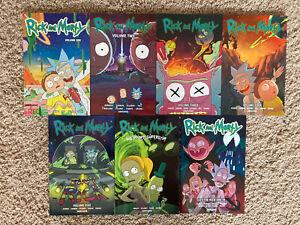 Rick-Morty-Vol-1-2-3-4-5-8-Graphic-Novel-Lot-Comic-Book-7-TBP-Trades-Oni-Press