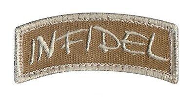 INFIDEL ARMY Klett PATCH WITH HOOK BACK mit Hakenklett Abzeichen