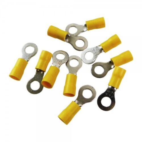 10Stk Ringkabelschuhe Quetschkabelschuhe Ringösen 8mm gelb MSZ 4-6mm2 MSZ-6//8