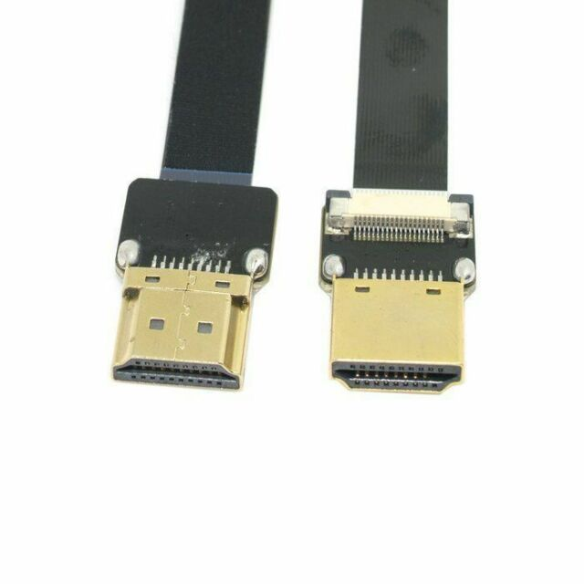 USA FPV HDMI Type A Male to HDMI Male HDTV FPC Flat Cable 50cm for Multicopter