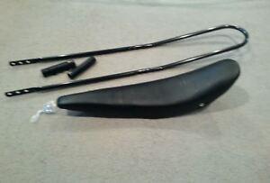 "BLACK N WHITE BANANA SEAT BLACK  SISSY BAR GRIPS INCLUDED 26/"" CRUISER BICYCLES"