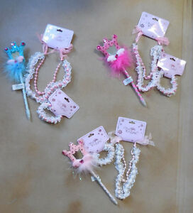 New-Set-of-Pen-Faux-Pearl-Necklace-amp-Bracelet-Various-Colors-Fun-Play-Child