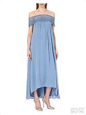 Autorretrato Bardot Off-the-hombro vestido Azul Size UK 10 RRP £ 320