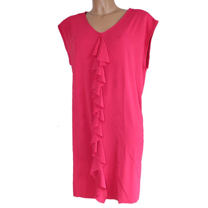 Kleid Frau rotmenta Florence Kleid ärmellos Größe 48 Fuchsie Rosa