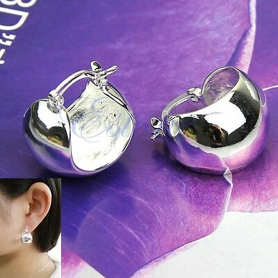 New Fashion Bright Hoop Earrings Lowest Price Wholesale Silver Plated