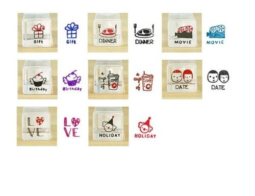 Couples Schedule Rubber Stamp Set Weather Emotion Planner Journal Kawaii UK