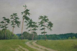 Gustav-Mueller-Aquarell-Foehrengruppe-bei-Ubermatzhofen-Juli-1976