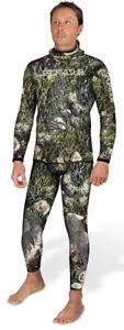 Sporasub-5mm-Sea-Green-Mens-Spearfishing-Camo-Suit-2pc-Wetsuit-Farmer-John-2XL