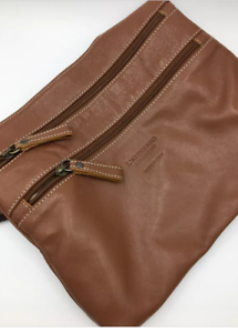 L'Artigiano Sorrentino Italian Tan Brown Leather Handbag Cross Body Shoulder Bag