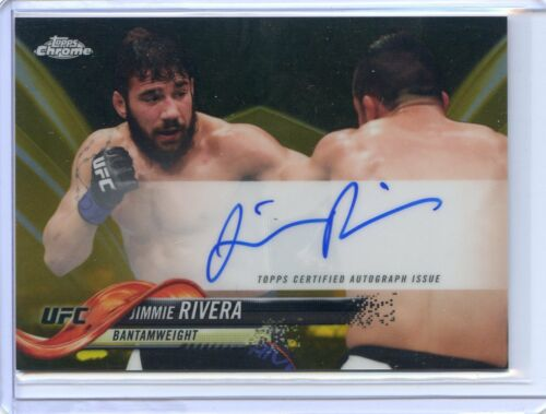 2018 TOPPS CHROME UFC GOLD AUTO REFRACTOR JIMMIE RIVERA #50