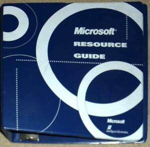 microsoft resource guide 3 d ring binder empty ebay