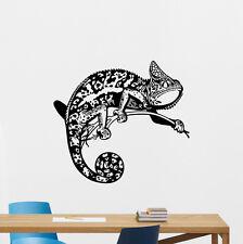 Chameleon Wall Decal Lizard Animals Vinyl Sticker Bedroom Decor Poster 131hor