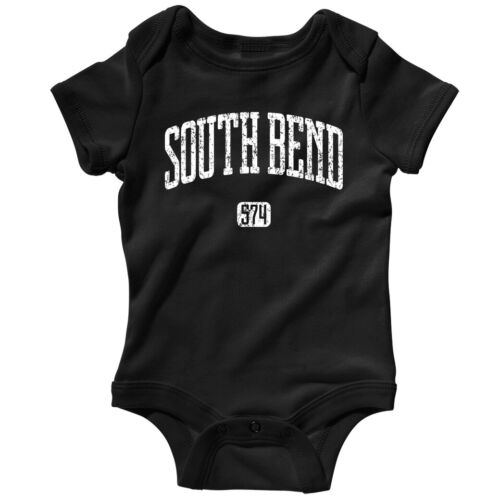 South Bend 574 Indiana One Piece Notre Dame Baby Infant Romper NB to 24M