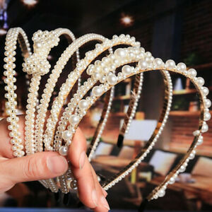 Fashion-Women-039-s-Pearl-Hairband-Headband-Crystal-Hair-Hoop-Hair-Accessories-Gift