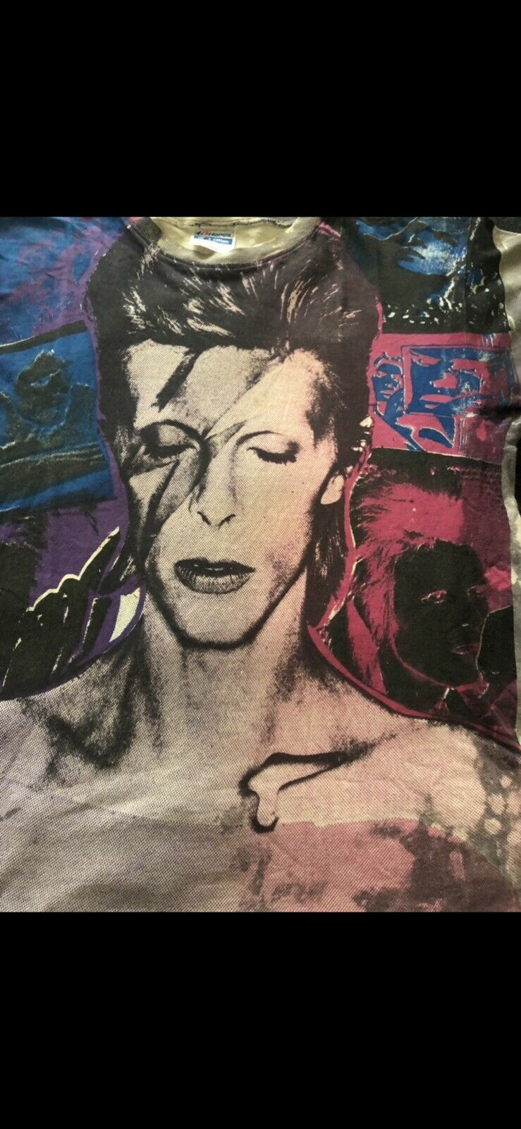 Vintage David Bowie Mosquitohead T Shirt Fifth Co… - image 3