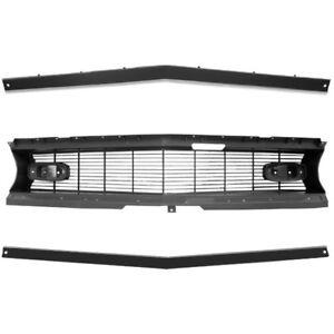Upper /& Lower 1968 Chevy Camaro Grille Molding Set Standard Dynacorn
