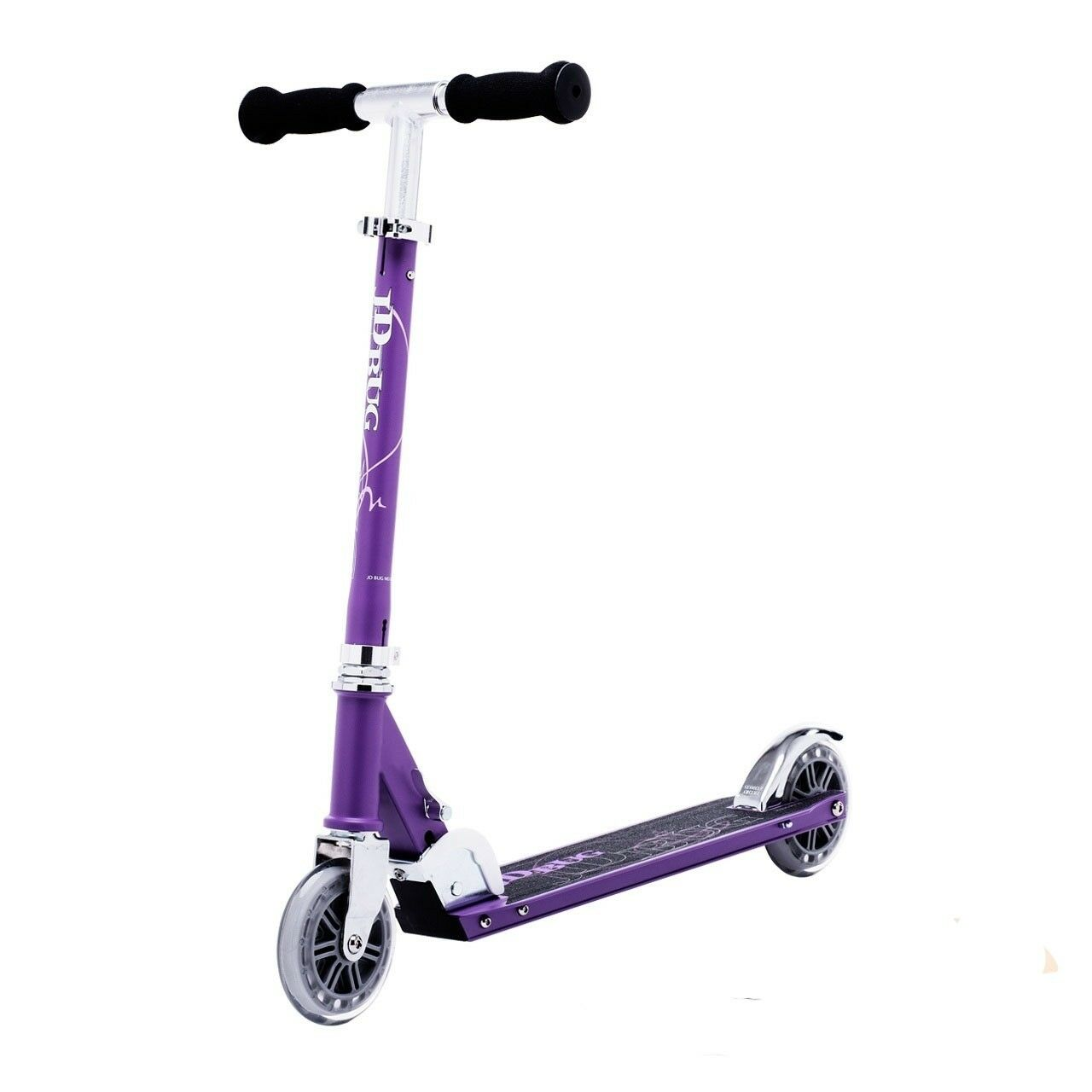JD Bug Original Street  120 Series  Adjustable Folding Scooter - Matt Purple