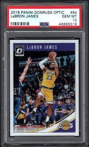 2018-19 Panini Donruss Optic #94 LeBRON JAMES Los Angeles Lakers PSA 10 GEM MINT