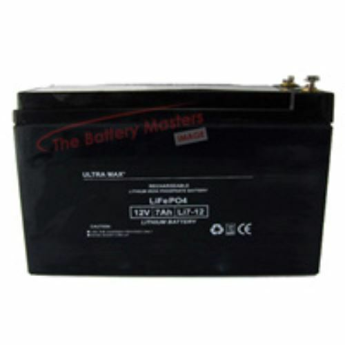 ULTRAMAX LI7-12, 12V 7AH LITHIUM Li-Ion BAIT BOAT BATTERY - 45% more bait time
