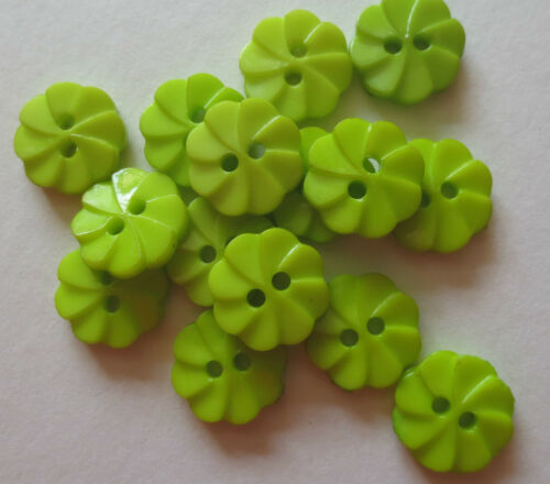 2 HOLE FLOWER//CARTWHEEL RESIN BUTTONS//CRAFT//SEWING 12MM//VAR COLS//VAR QTY