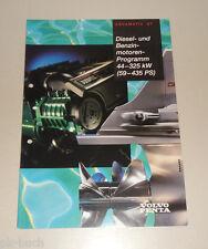 Programma prospetto Volvo Penta Diesel e motori a benzina 59 - 435 CV 08/1996